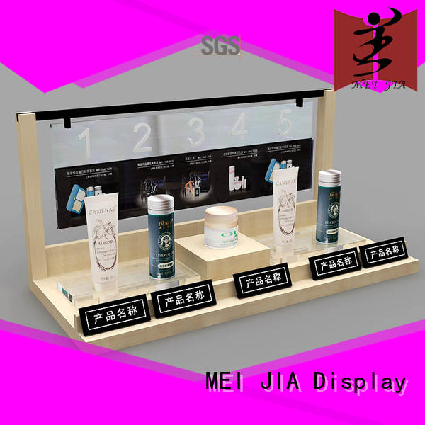 MEI JIA Display try beauty display stands with hook for showroom