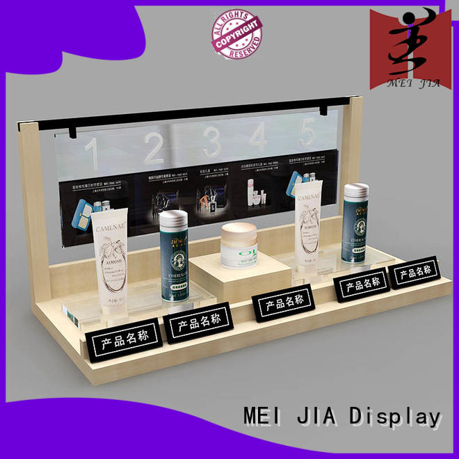 MEI JIA Display customized acrylic cosmetic display stand holder for shoppe