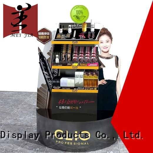 wall cosmetic display counter brand for shop MEI JIA Display