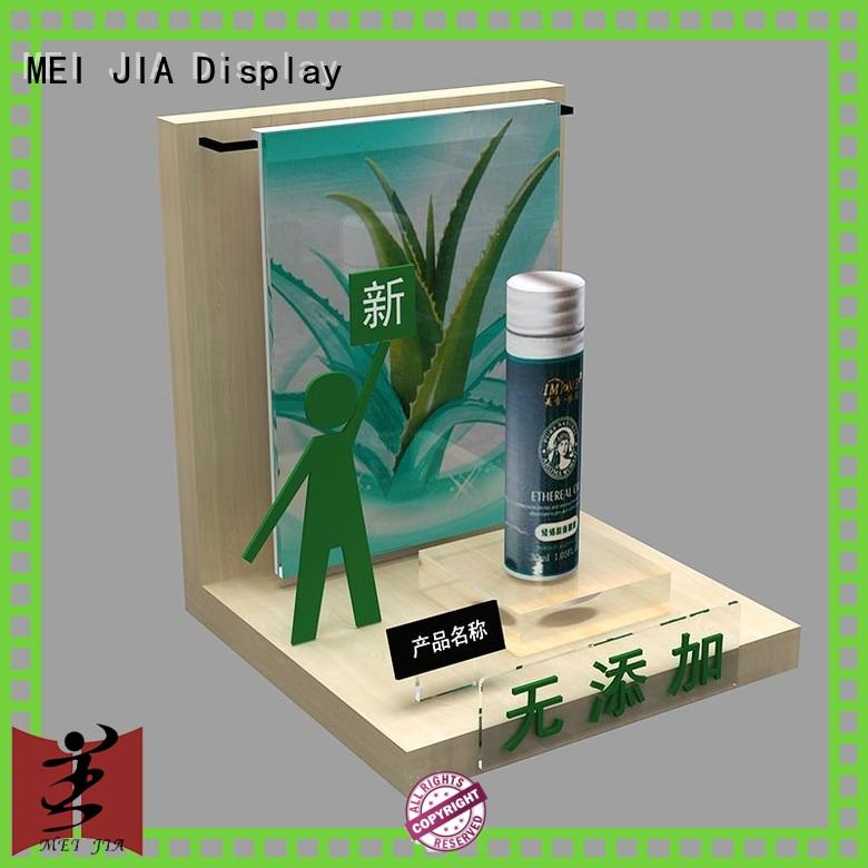 MEI JIA Display customized cosmetics acrylic display holder for exclusive shop