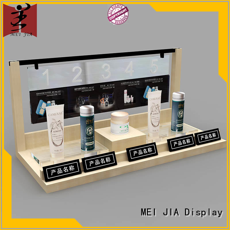 MEI JIA Display body care retail makeup display stand retail for store