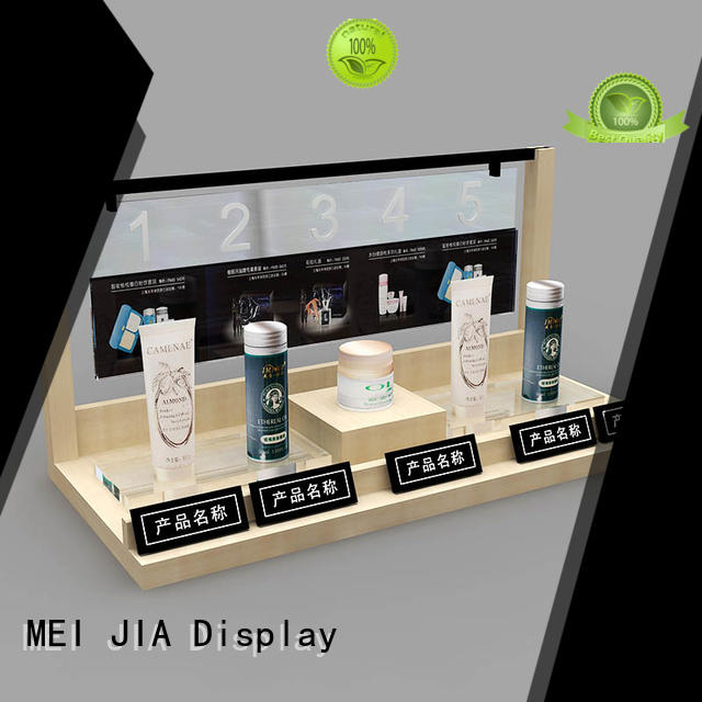 Best cosmetic showcase wall supply for shop