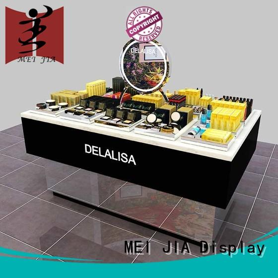 body care makeup display counter with hook for shoppe MEI JIA Display