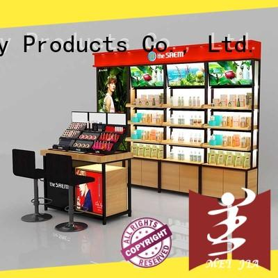 MEI JIA Display brand cosmetic display cabinet great design for store