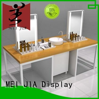 New cosmetics acrylic display shelves company for showroom