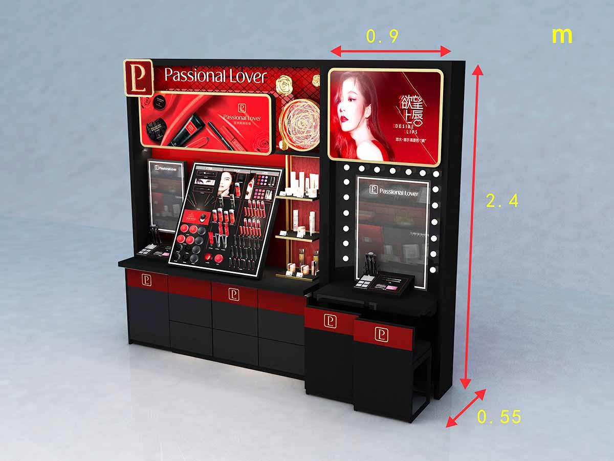 holder makeup display cabinet with hook for shoppe MEI JIA Display-3