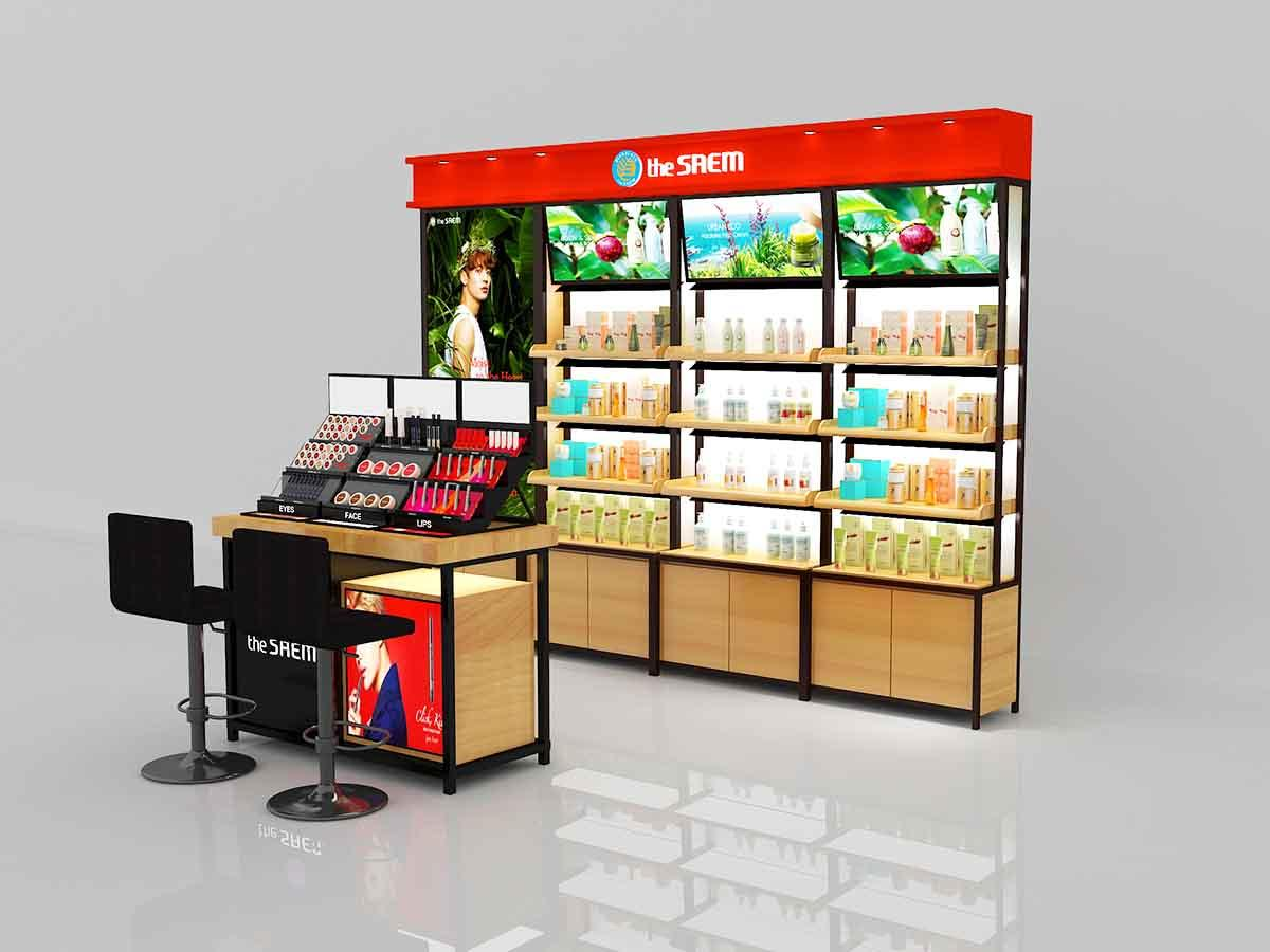 fashional cosmetic display cabinet skin for brand for showroom-1