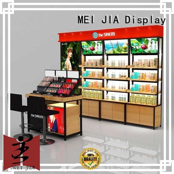 High-quality beauty display stands backside factory for exclusive shop