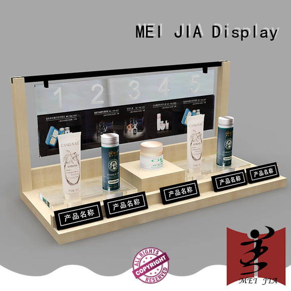 customized retail makeup display stand showcase with hook for store