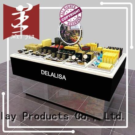 attract attention cosmetics display shelves great design for counter MEI JIA Display