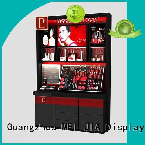 Latest makeup display stand shelves factory for exclusive shop