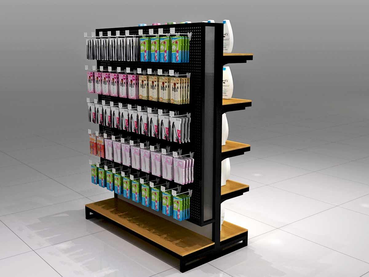 Cosmetics Display Shelves with Hook-1