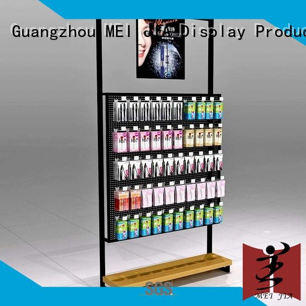 skin retail makeup display stand with hook for exclusive shop MEI JIA Display