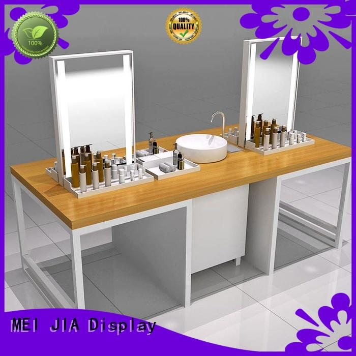 Wholesale cosmetic showcase shelves supply for store