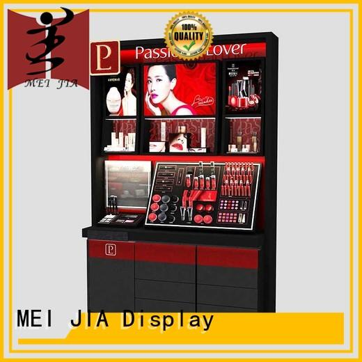 holder makeup display cabinet with hook for shoppe MEI JIA Display