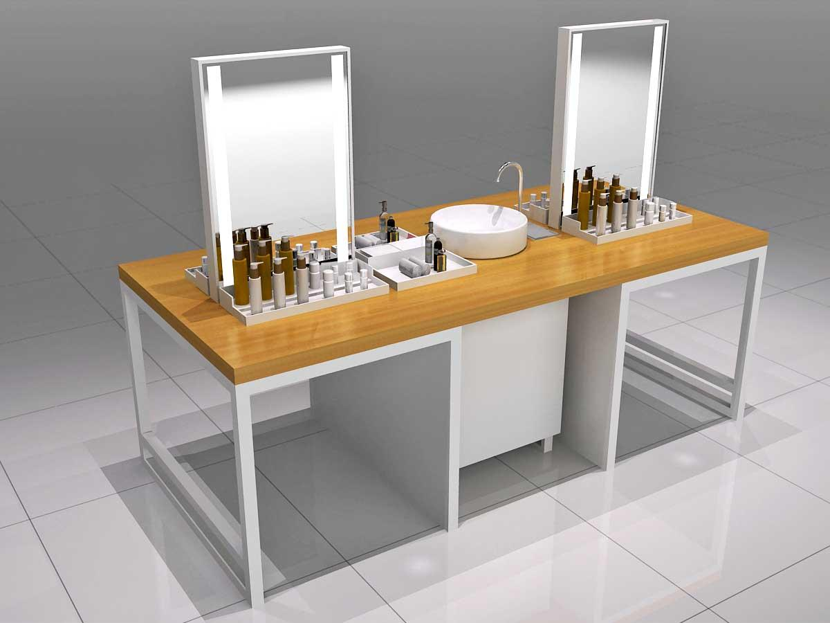 New cosmetics acrylic display shelves company for showroom-1