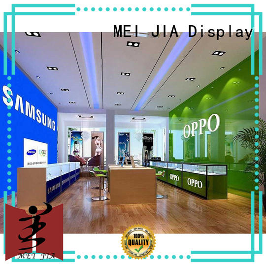 MEI JIA Display customized mobile display counter with storage for shoppe