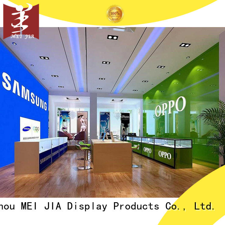counter Cellphone Shop Display Desgin with storage for shoppe MEI JIA Display