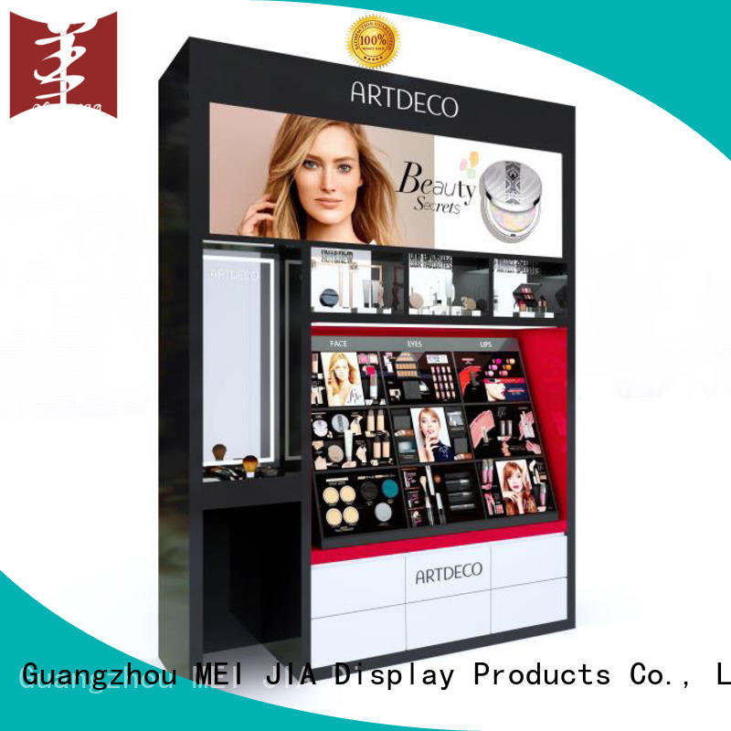 customized cosmetic display stand for brand for store MEI JIA Display
