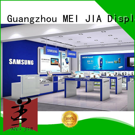 MEI JIA Display showcase Mobile Phone Shop Showcase Table with hook for showroom