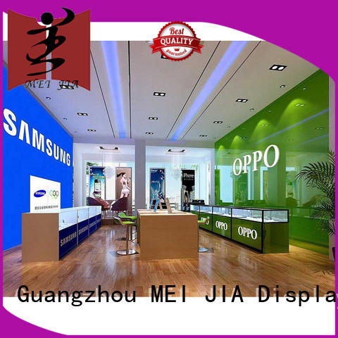 MEI JIA Display Latest mobile phone counter manufacturers for shoppe