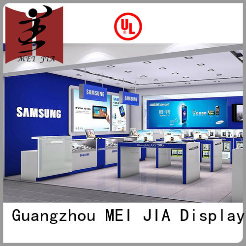 fashional mobile phone counter display with hook for store