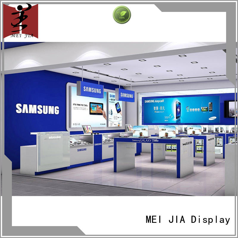 counter Cellphone Shop Display Desgin cellphone for shoppe MEI JIA Display