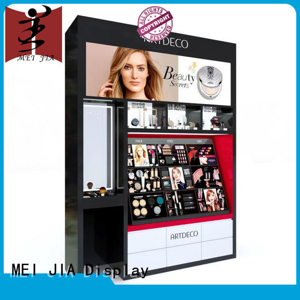 customized makeup display stand retail cabinet for shoppe