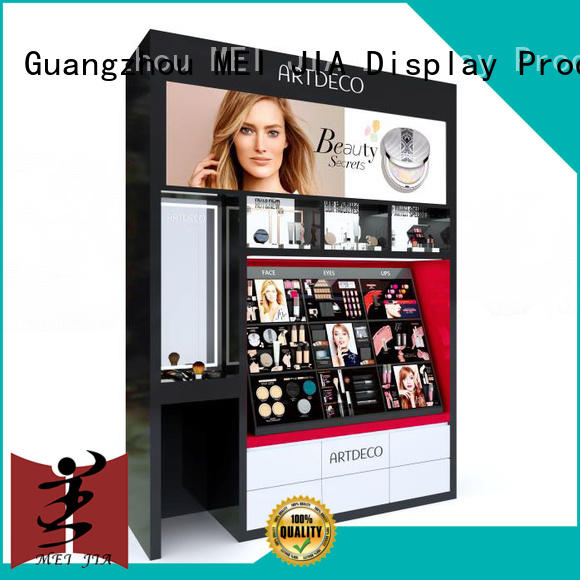 MEI JIA Display attract attention skin care display stands showcase for shoppe