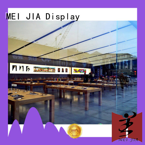 display computer shop display design with storage for exclusive shop MEI JIA Display